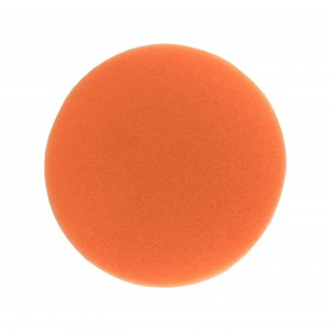 "Boina de Espuma Agressiva Laranja 5,5"" com Velcro - 580G - Buff and Shine"